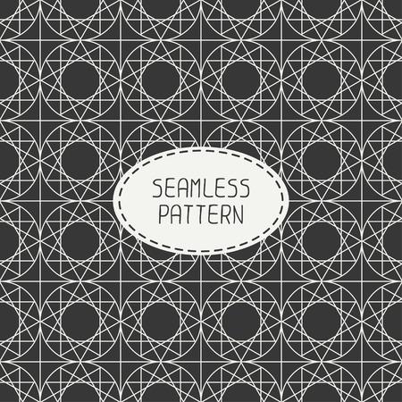 arabisch patroon: Geometrisch lijn monochroom rooster naadloze Arabisch patroon. Islamitische oosterse stijl. Inpakpapier. Plakboek papier. Tegelwerk. Wit vector illustratie. Marokkaanse achtergrond. Grafische textuur.