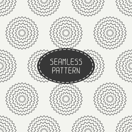 original circular abstract: Geometric monochrome art hipster line seamless pattern with circle, round. Wrapping paper. Scrapbook paper. Tiling. Beautiful vector illustration. Background. Graphic texture for design. Illustration