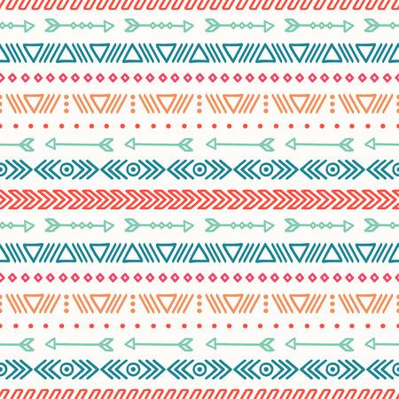 tribales: Dibujado a mano geométrica patrón transparente étnica. Papel de regalo. Papel del libro de recuerdos. Estilo Doodles. Revestimientos. Tribal ilustración vectorial nativo. Fondo azteca. Tinta elegante textura gráfica. Vectores