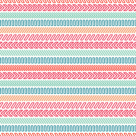 Hand drawn geometric hipster line seamless pattern. Wrapping paper. Scrapbook paper. Trendy linear doodle style. Vector illustration. Background. Graphic texture for design.