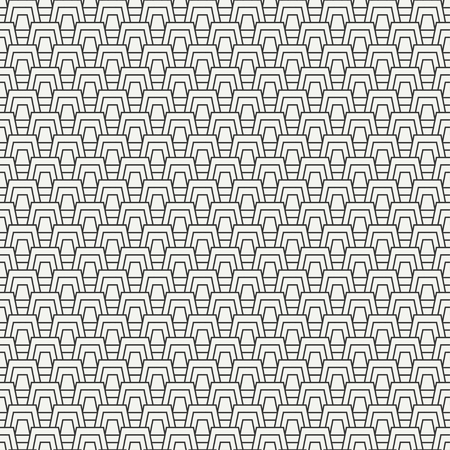 Geometric line monochrome abstract hipster seamless pattern with trapeze. Wrapping paper. Scrapbook paper. Tiling. Vector illustration. Background. Graphic texture for design, wallpaper.