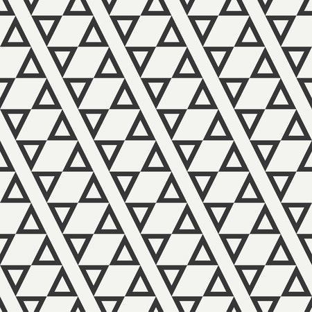 delta cell: Geometric line monochrome abstract hipster seamless pattern with triangle