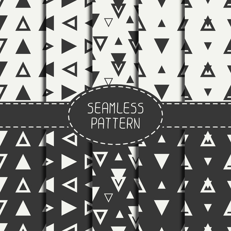 Set of line polygon abstract hipster seamless pattern Illustration