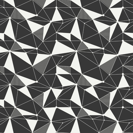 Geometric line hipster seamless pattern with triangle and circles Illustration