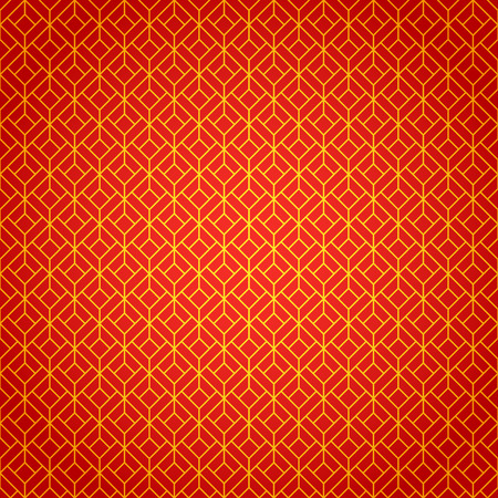 Gold And Red Geometric National Chinese Seamless Pattern Wrapping
