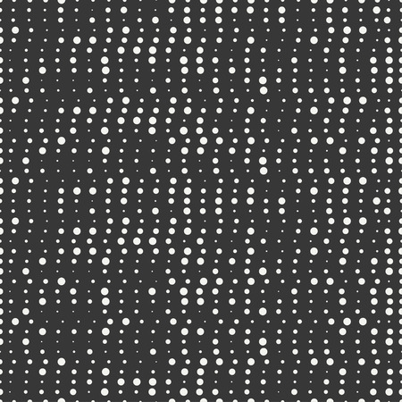disposed: Polka dot. Geometric abstract hipster seamless pattern with round, dotted circle. Wrapping paper. Scrapbook paper. Vector illustration. Background. Texture with randomly disposed spots.