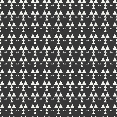 Geometric monochrome abstract hipster seamless pattern with triangle. Wrapping paper. Scrapbook paper. Tiling. Vector illustration. Background. Graphic texture for design, wallpaper. Illustration