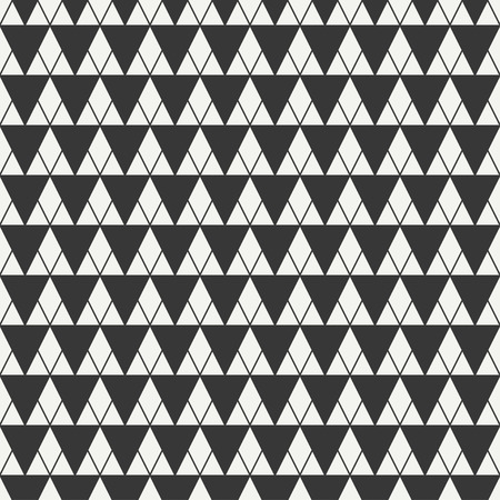 delta cell: Geometric line monochrome abstract hipster seamless pattern with triangle. Wrapping paper. Scrapbook paper. Tiling. Vector illustration. Background. Graphic texture for design, wallpaper.