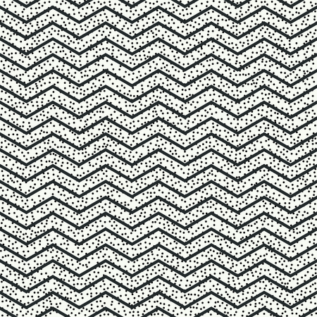 disposed: Geometric abstract chevron zigzag stripes pattern. Hipster striped. Wrapping paper. Scrapbook paper. Vector illustration. Background. Graphic texture with randomly disposed spots.