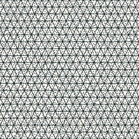 disposed: Geometric abstract seamless polygon triangular pattern. Hipster striped. Wrapping paper. Scrapbook. Vector illustration. Background. Triangle. Graphic texture with randomly disposed spots.
