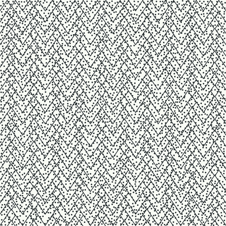 disposed: Geometric abstract chevron zigzag stripes pattern. Vintage hipster striped. Wrapping paper. Scrapbook. Vector illustration. Background. Graphic texture with randomly disposed spots.