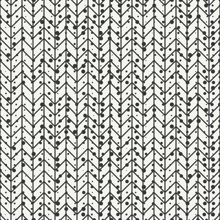 disposed: Geometric seamless abstract chevron zigzag stripes pattern. Hipster striped. Wrapping paper. Scrapbook. illustration. Background. Graphic texture with randomly disposed spots.
