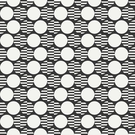 scrapbook paper line: Geometric line monochrome abstract hipster seamless pattern with round. ircle. Wrapping paper. Scrapbook. Stripes.