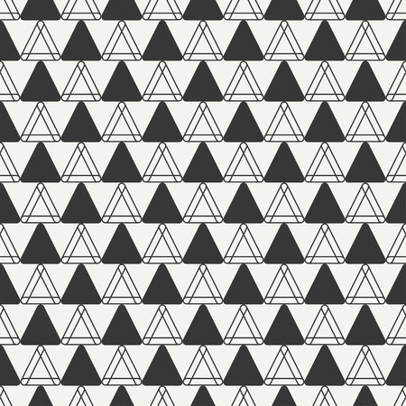 delta cell: Geometric line monochrome abstract hipster seamless pattern with triangle. Wrapping paper. Scrapbook paper. Illustration