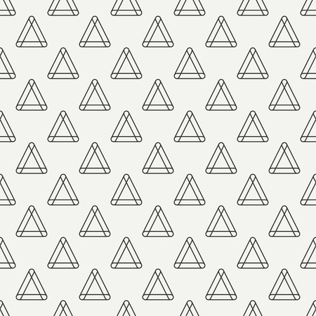 Geometric line monochrome abstract hipster seamless pattern with triangle. Wrapping paper. Scrapbook paper. Illustration