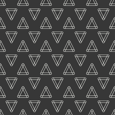 Geometric line monochrome abstract hipster seamless pattern with triangle.