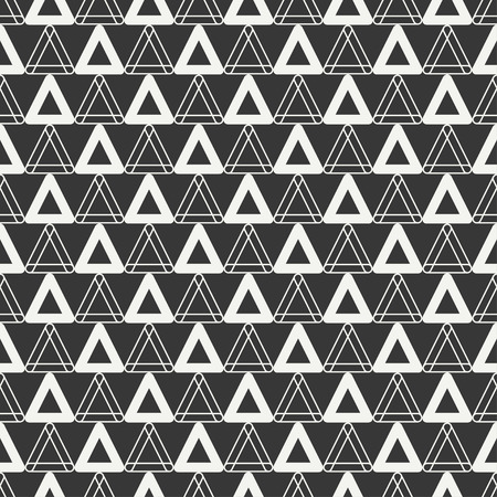 delta cell: Geometric line monochrome abstract hipster seamless pattern with triangle.