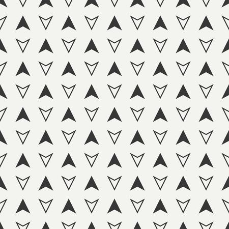 tip style design: Geometric line monochrome abstract hipster seamless pattern. Illustration