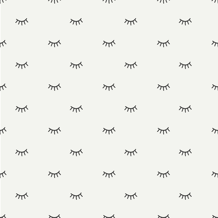 close eyes: Hand drawn seamless pattern with close eyes. Wrapping paper. Vector background. Casual texture. Illustration. Bohemian style. Tribal print. Ethnic doodle art elements. Eye pattern. Illustration