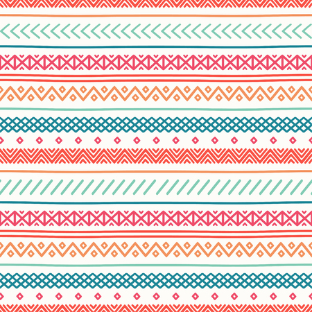 handmade graphic texture: Tribal hand drawn line geometric mexican ethnic seamless pattern. Border. Wrapping paper. Doodles. Vintage tiling. Handmade native vector illustration. Aztec background. Ink graphic texture