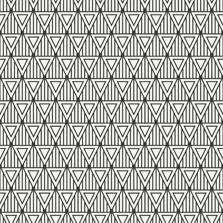 Geometric line monochrome abstract hipster seamless pattern with triangle. Wrapping paper. Scrapbook paper. Tiling. Vector illustration. Background. Graphic texture for design, wallpaper.