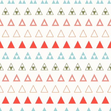 Geometric line color abstract hipster seamless pattern with triangle. Wrapping paper. Scrapbook. Print. Vector illustration. Background. Graphic texture for design wallpaper. Red, blue, green