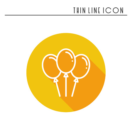 family holiday: Balloon, air balloon icon. Party celebration, birthday, holidays, event, carnival festive. Thin line party element icon. Vector simple linear design. Illustration. Symbols.