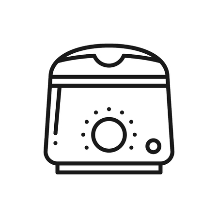 Wax heater warmer line icon. Paraffin beauty. Hair removal method. Waxing. Stock Illustratie