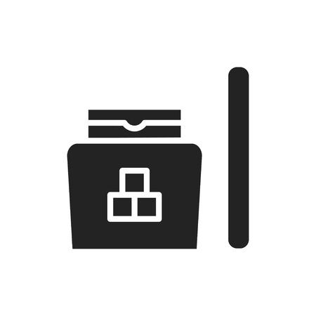Sugaring silhouette icon. Hair removal method. Sugaring paste, sticks.