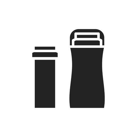 Cartridge wax heater warmer silhouette icon. Hot cartridge hair removal. Roller waxing. Depilatory roll on