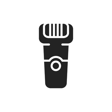 Electric shaver silhouette icon. Hair removal method. Razor shaving