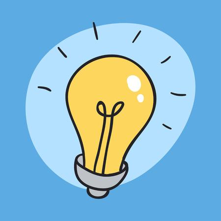 The Idea Bulb Icon. Unexpected Idea Sign and Symbol. Included light bulb.
