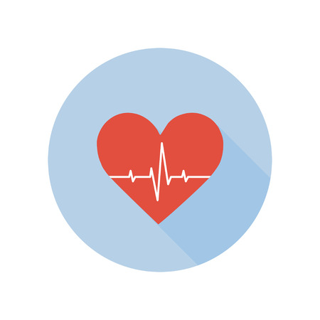 Medical Palpitation Icon. Heartbeat Healthcare and Medical Sign and Symbol. Çizim