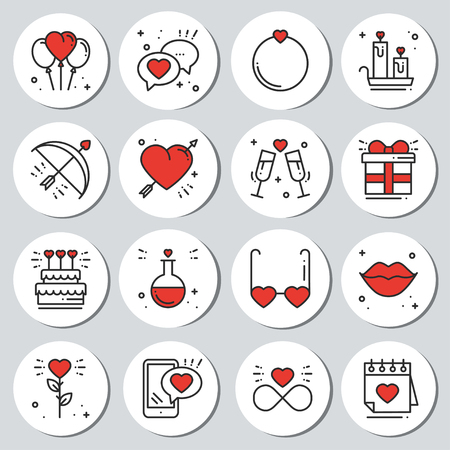 image relating to Printable Sticker Labels called St Valentines working day spherical printable stickers fastened. Passionate labels..