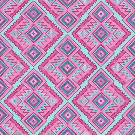 Ethnic seamless pattern. Tribal line print in african, mexican, american, indian style. Geometric boho background. Ethnic and tribal motifs can be used in fabric design.