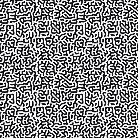 Fondo orgánico con líneas redondeadas. Modelo inconsútil de la moda del vector blanco y negro. Diseño lineal Ilustración de vector