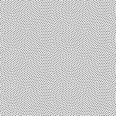 Seamless dot pattern with randomly disposed spots. Dotted background. Black and white vector trendy texture  イラスト・ベクター素材