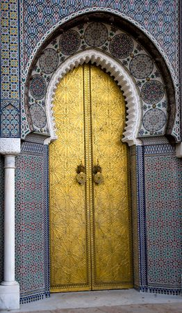 Entrance to the Palace, Fes, Morocco photo