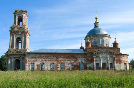 Temple of Transfiguration of the god (Preobrazhenskiy church). Village Kvashenki Taldomsky region of the Moscow area. Banco de Imagens