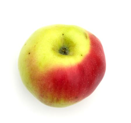 Ripe red apple on a white background. A close up. Stock Photo - 5639558
