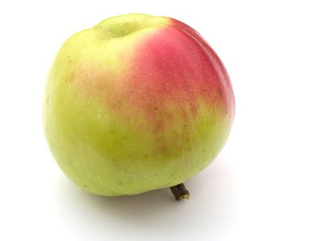 Apple on a white background. A close up. Stock Photo - 5639539