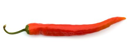 Red hot pepper isolated on a white background, a close up. Stock Photo - 5639488