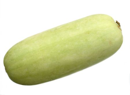 Fresh vegetable marrow on a white background a close up. Stock Photo - 5639543