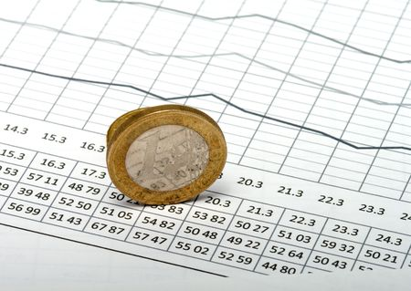 encash: Euro coins on sheet with the schedule.