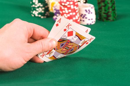 As of diamonds and the king in a hand of the player.
