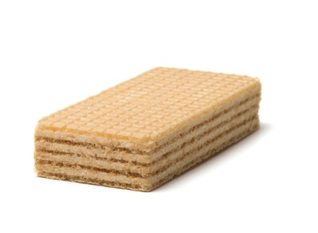 Wafer close up it is isolated on a white background.