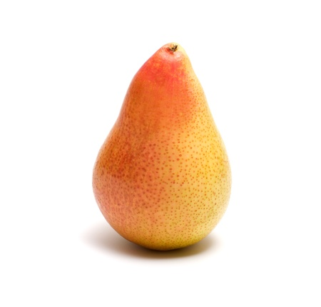 Ripe pear it is isolated on a white background. Stock Photo