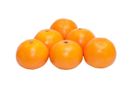 Ripe tangerines it is isolated on a white background. photo