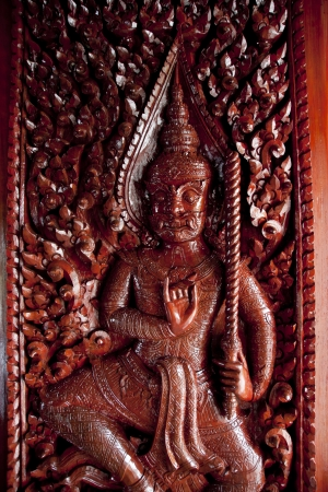 Set of entrance doors from Thailand photo