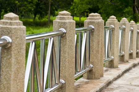 Bridges, fences, concrete pillars  photo